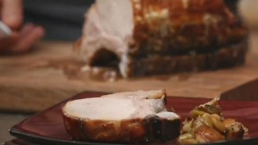 За Коледа: Глазирано свинско печено