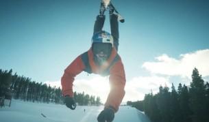 Първият в света ски рампов лупинг