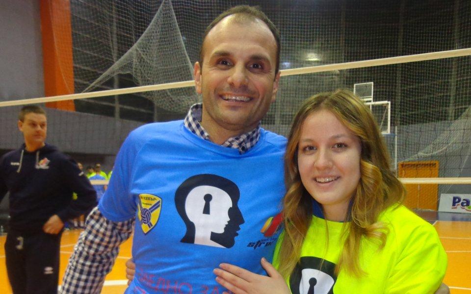 Волейболистка на Марица участва в мъжки мач