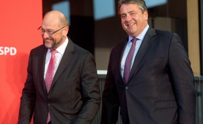 Зигмар Габриел и Мартин Шулц