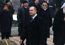 Бойко Борисов гледа встъпването в длъжност на новия президент ген. Румен Радев