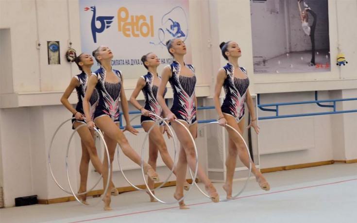 Първото контролно на новия ансамбъл по художествена гимнастика