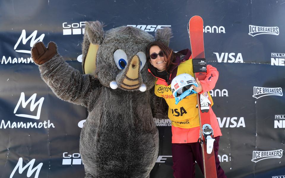 Талисманчето на старта от ски състезанието в САЩ през уикенда