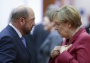 Мартин Шулц и Ангела Меркел