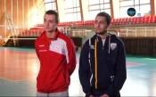 Волейболистите на ЦСКА и Левски - Шекерджиев и Павлов преди