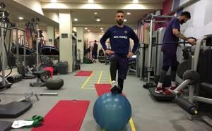 Седмица след операцията капитанът на Барса е отново във фитнеса