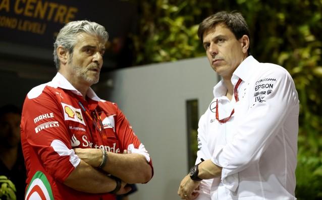 Големите шефове - Маурицио Аривабене и Тото Волф източник: Gulliver/Getty Images