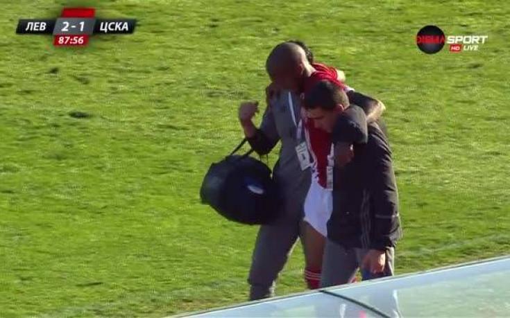Каранга с контузия, ЦСКА с човек по-малко срещу Левски