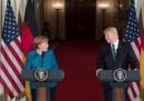 Ангела Меркел и Доналд Тръмп