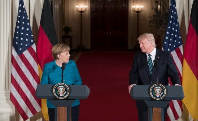 Тръмп отказа да се ръкува с Меркел
