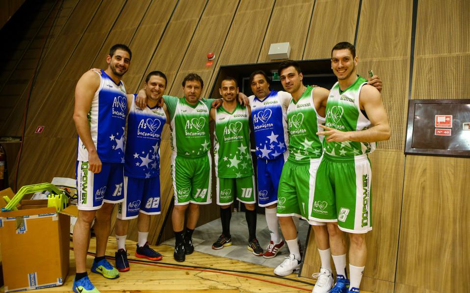 Геша и Вили Вуцов показаха баскетболни умения на Мача на звездите