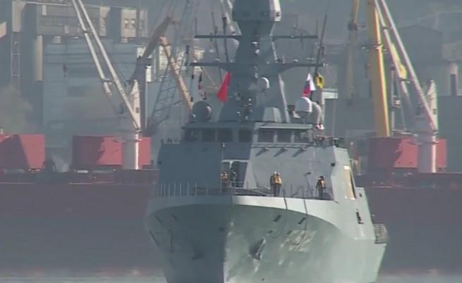 Ето как посрещат турските военни кораби в Русия