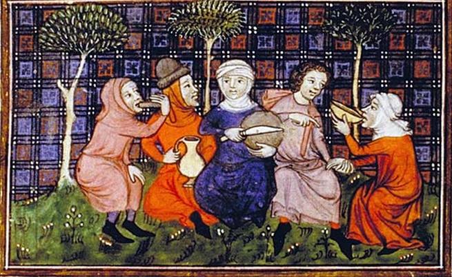 Селяни си споделят хляб