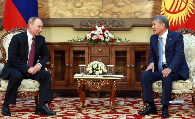 Среща между руския президент Владимир Путин и киргизския му колега Алмазбек Атамбайев