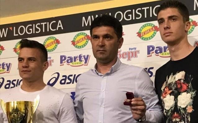 Ангел Лясков, треньорът Ангел Стойков и Петко Христов източник: Gong.bg