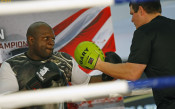 Тренировката на Кубрат Пулев и Кевин Джонсън<strong> източник: LAP.bg, Илиан Телкеджиев</strong>
