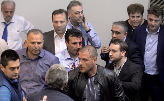 Македония изгони сръбски агент, начело на щурма в парламента