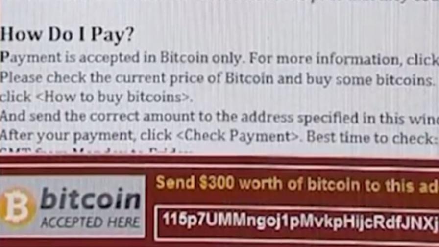 Вирусът WannaCry иска от потребителите да платят откуп за заключените си данни