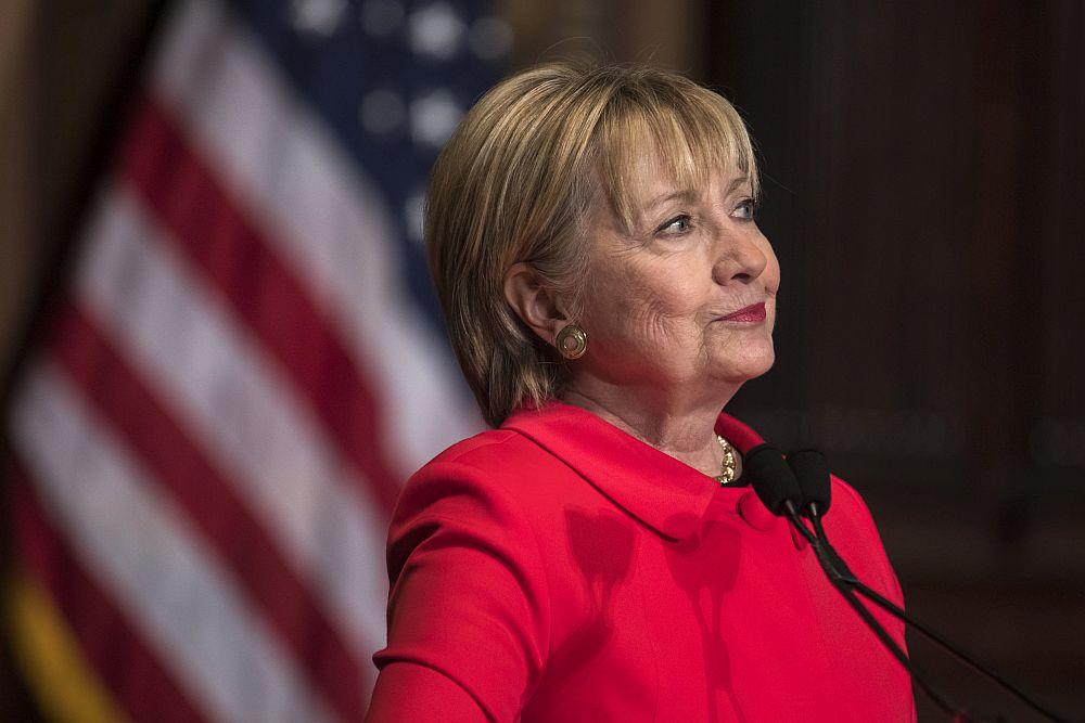 Хилари Клинтън - бившата първа дама на САЩ, която години по-късно влезе и в надпреварата за президентския пост.