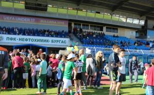 Нефтохимик организира истински празник за децата от школата на тима