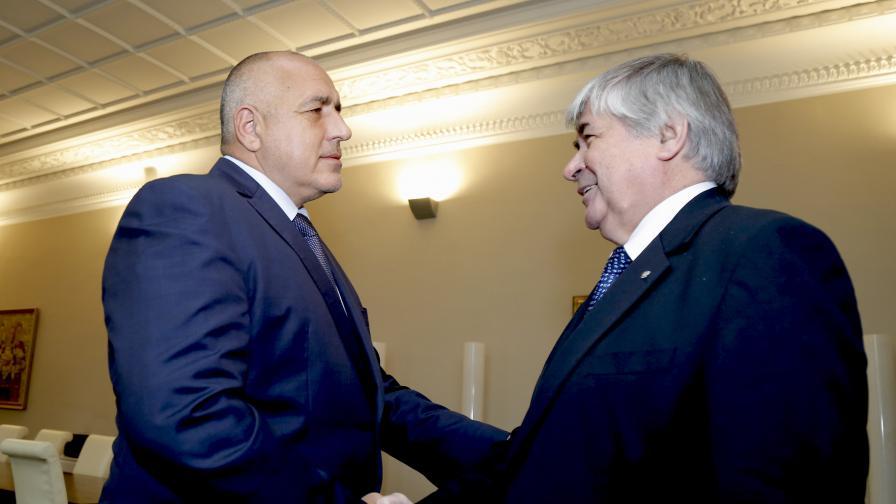 Премиерът Бойко Борисов и руският посланик Анатолий Макаров