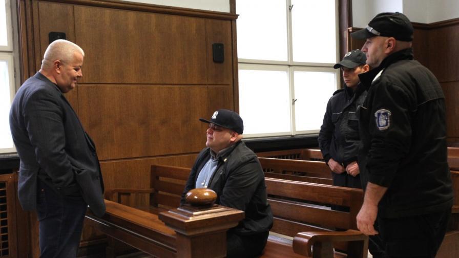 Николай Русинов-Чеци на подсъдимата скамейка
