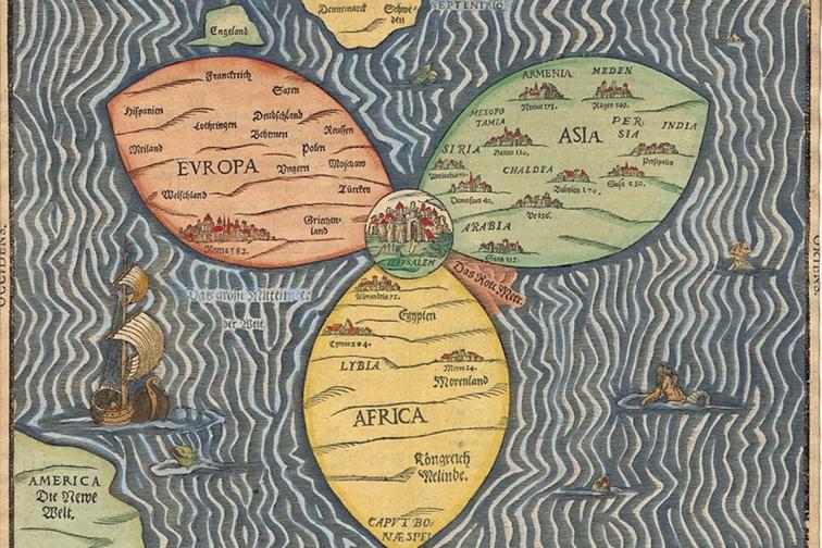 стара карта на света