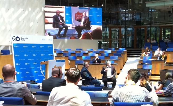 Михаил Ходорковски пред Световния медиен форум в Бон