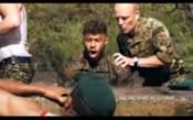 Английските национали в тренировка на морските пехотинци