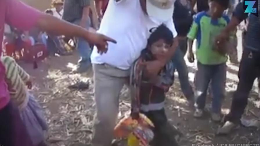 Кадри на пияно момче на 5 потресе Перу