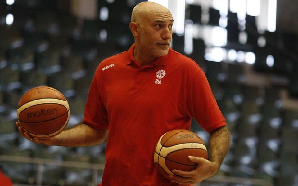 Любо Минчев за начало с баскетболистите: Няма нищо лесно