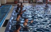 ЦСКА с тренировка в басейн<strong> източник: cska.bg</strong>