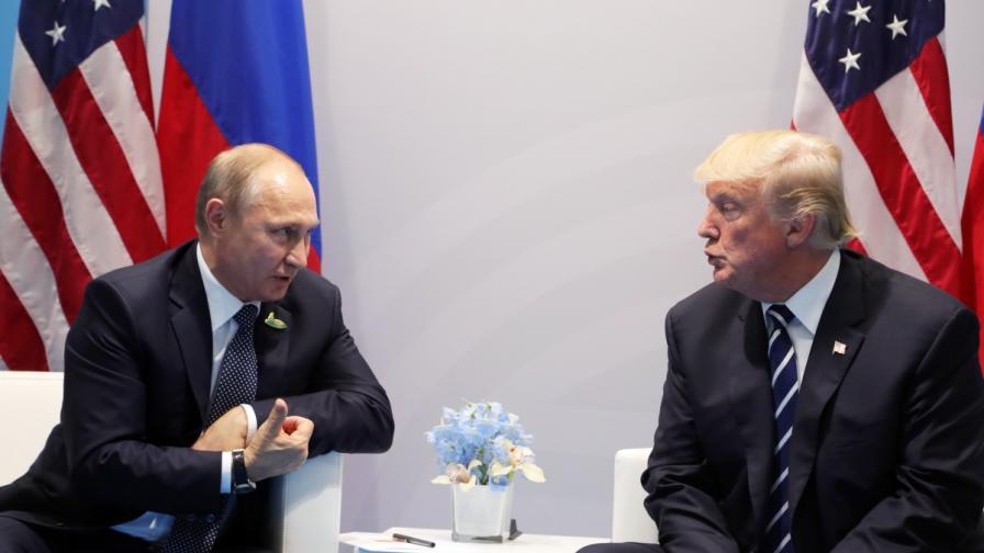 Владимир Путин и Доналд Тръмп в Хамбург