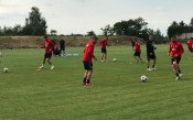 ЦСКА тренира за двубоя с Лудогорец<strong> източник: CSKA.BG</strong>