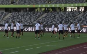 Милан тренира преди мача с Байерн Мюнхен