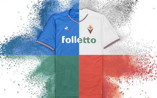 Четирите разцветки, в които ще върви екипа за гостуване на Фиорентина за сезон 2017/2018 източник: twitter.com/acffiorentina