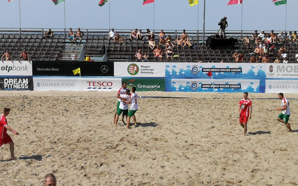 България започна с победа на Европейската лига по плажен футбол