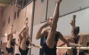 Момичетата от ансамбъла с подиум тренировка<strong> източник: facebook.com/pg/BGRGfederation/</strong>