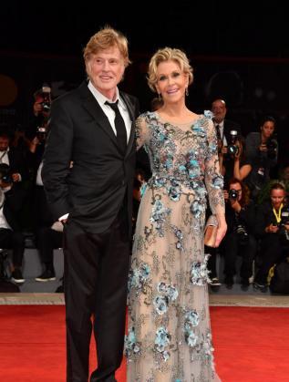 Робърт Редфорд и Джейн Фонда на кинофестивала във Венеция, 2017 г.