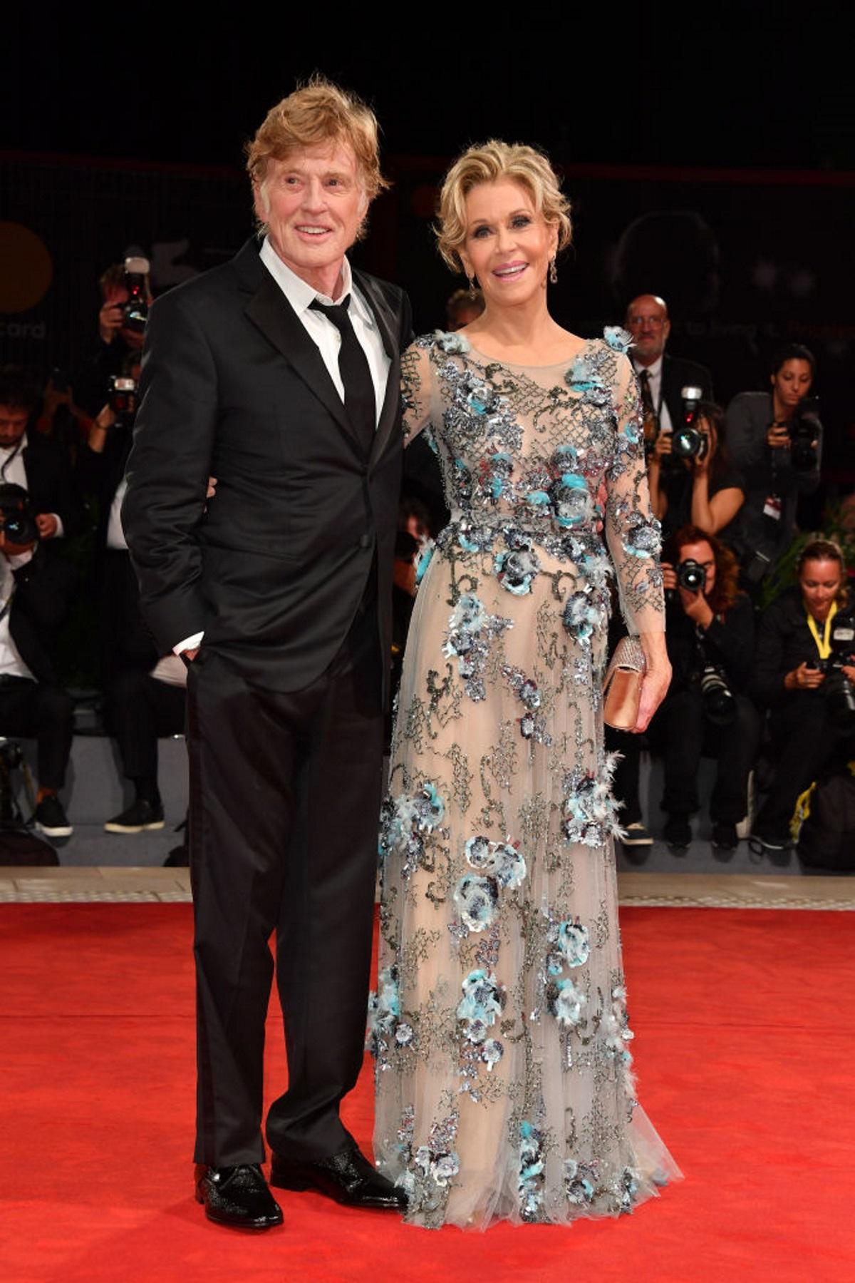Робърт Редфорд и Джейн Фонда на фестивала във Венеция (2017 г.)