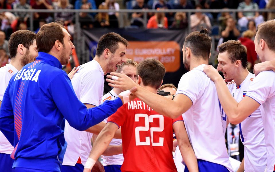 Русия се класира за финала на Евроволей 2017 и постави рекорд
