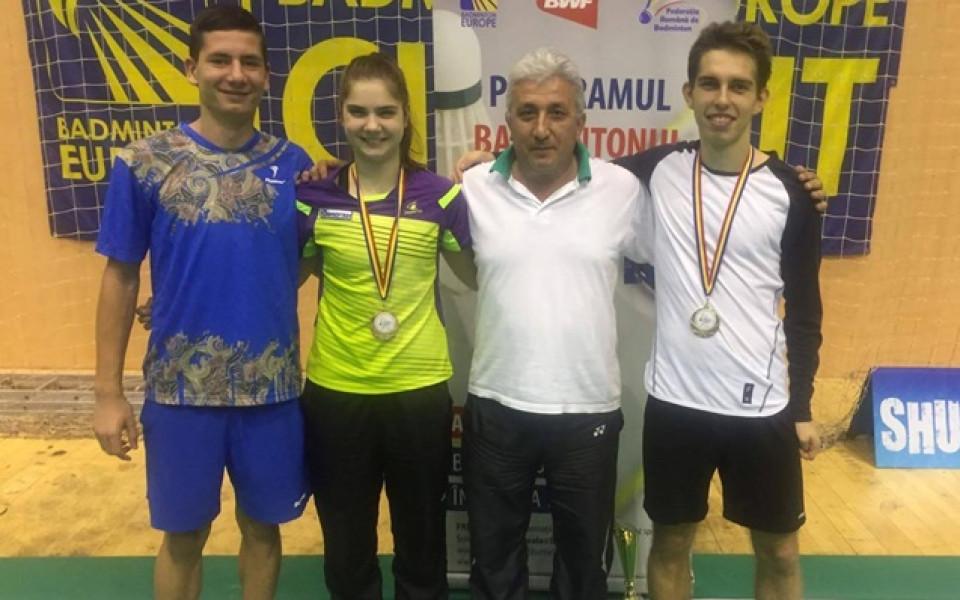 Мария Делчева с бронз на смесени двойки на турнир по бадминтон