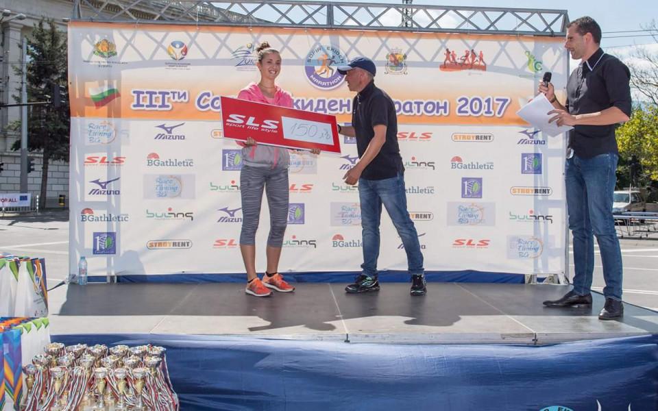 Диляна Минкина най-бърза на 5000 метра на щафетния маратон в София