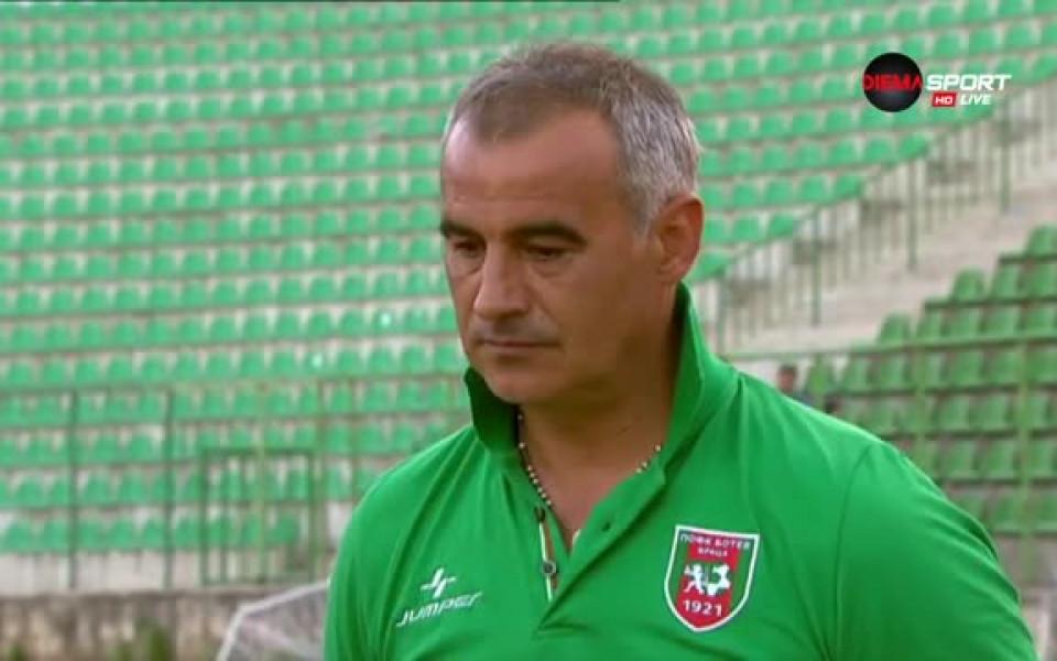 Сашо Ангелов: Докато аз съм треньор на Ботев Враца и има шанс, ще се борим за място в елита