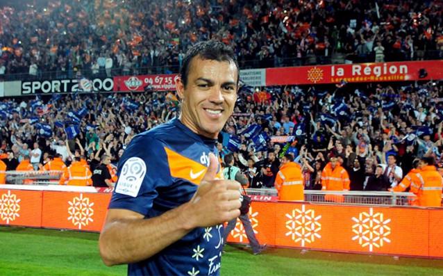 Капитанът на Монпелие Виторино Хилтон<strong> източник: twitter.com/MontpellierHSC</strong>
