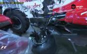 Троен сблъсък изхвърли Ферари от борбата в Сингапур