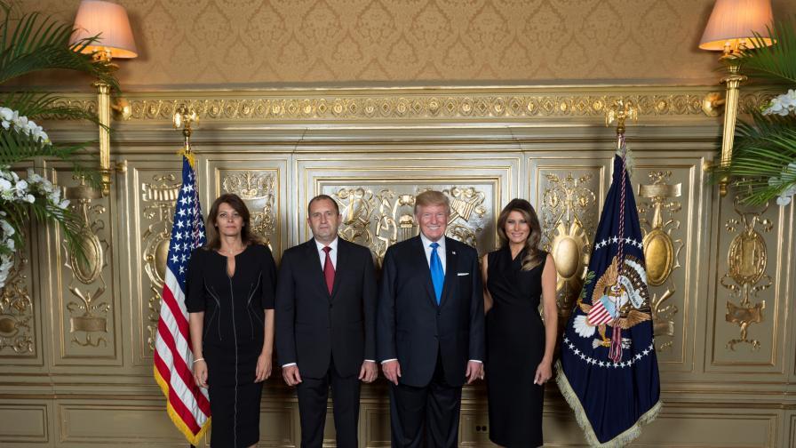 Президентските двойки на България и САЩ в ООН