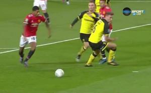 Юнайтед не губи време за първия гол срещу Бъртън