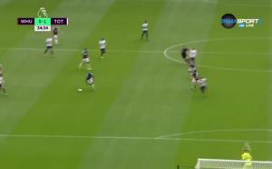 Хари Кейн с гол срещу Уест Хем