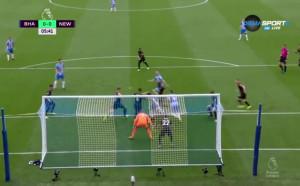 Брайтън и Хоув Албиън - Нюкасъл Юнайтед 0:0 /първо полувреме/